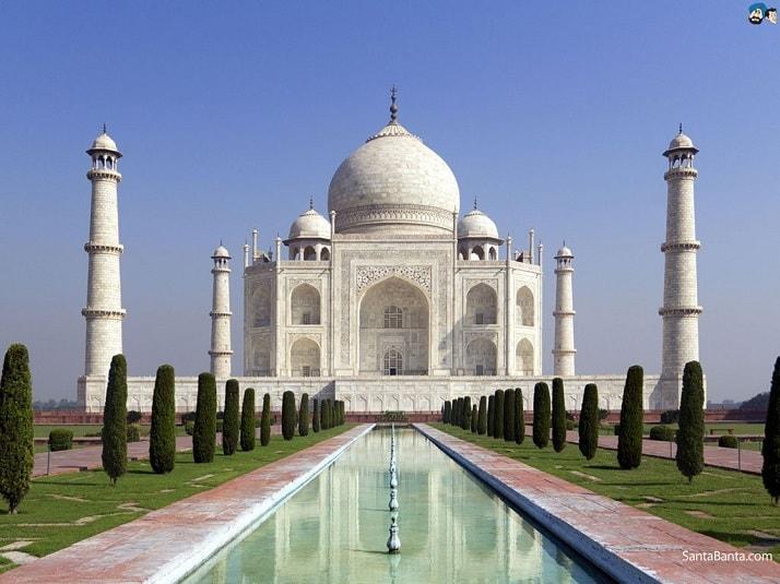 Taj Mahal en la India, una de las maravillas arquitectónicas del planeta