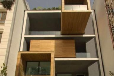 Fachada exterior de la vivienda Sharifi-ha House