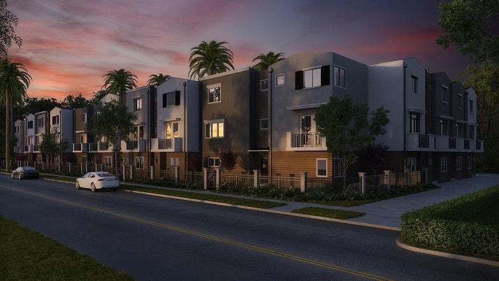 Vista de casas con Drone, una de las nuevas tecnologías para inmobiliarias