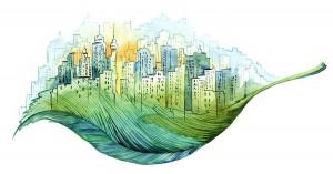 ciudad building green foto
