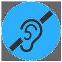 Casa accesible. Icono para discapacidad auditiva