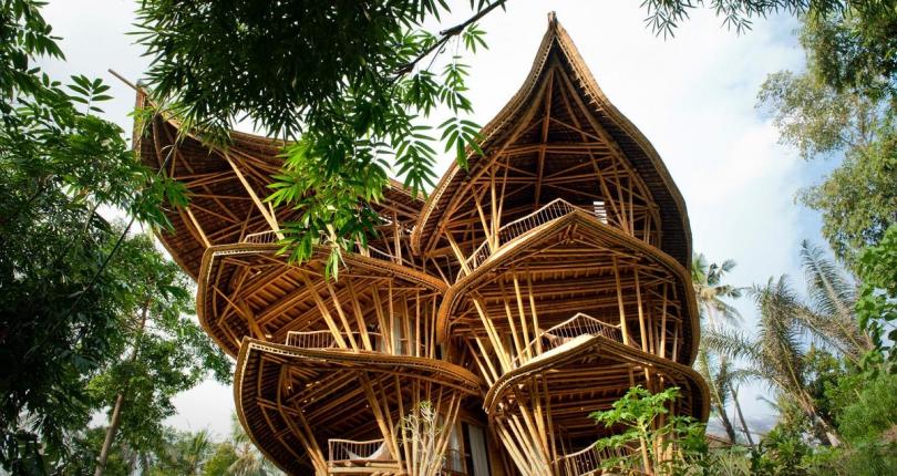 Casas mágicas y artesanales: las casas de bambú