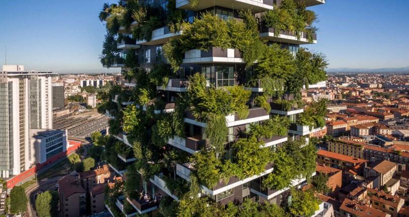 Los bosques verticales mejoran la calidad del aire