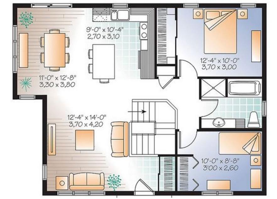 Las viviendas de 1 o 2 dormitorios son las m s demandadas for Casa moderna 6x6